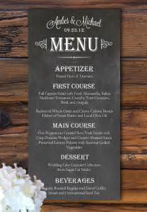 Wedding Program Signs Un Menu De Mariage Original Id 233 Es Impression Menu De Mariage