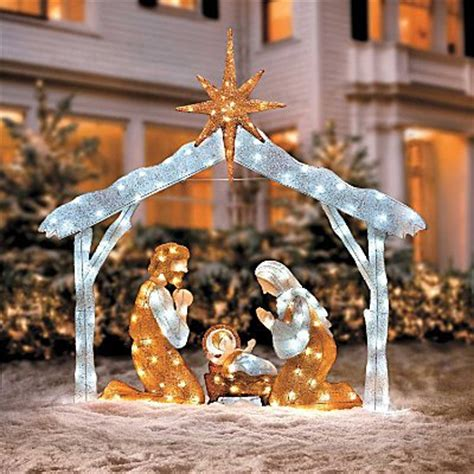 outdoor lighted nativity displays nativity outdoor decoration