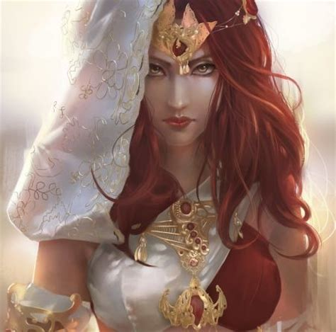 wemen with pleats in hair on pinerest fantasy women with red hair