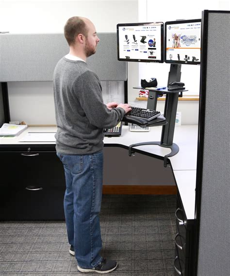 standing desk for two monitors dual monitor standing desk dual monitor adjustable
