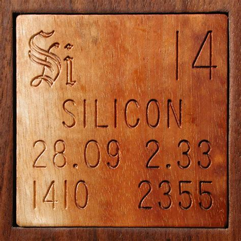 Silicon Periodic Table by Facts Pictures Stories About The Element Silicon In The