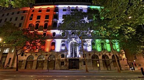 india house express indian mission in london lit up in energy efficient tricolour the indian express