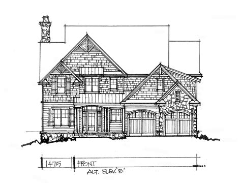 2 story house floor plans and elevations conceptual house plan 1475 narrow two story