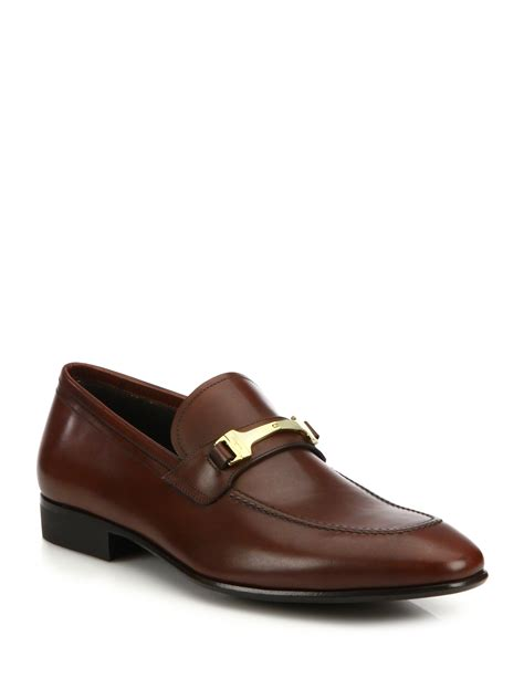 vanishing elephant loafers lyst ferragamo mestre vara leather bit loafers in