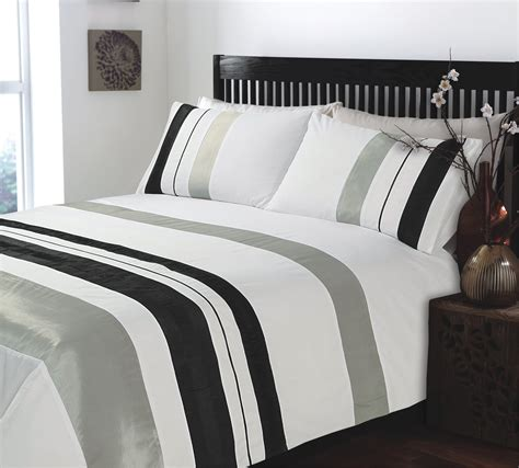 White And Grey Comforters by King Size Ripple And Plain Stripe Grey And White Duvet