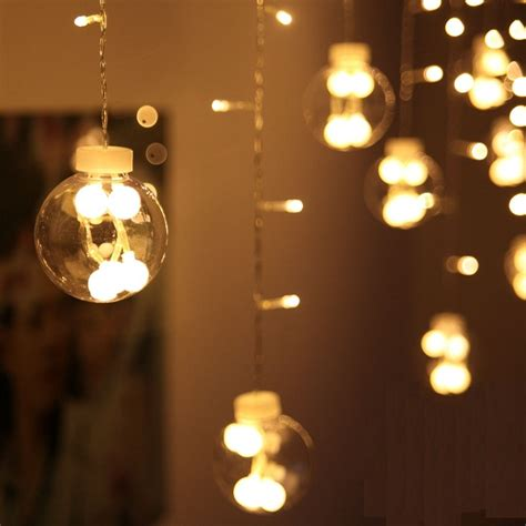 decorative lights for bedroom led string lights shop window decoration light curtain