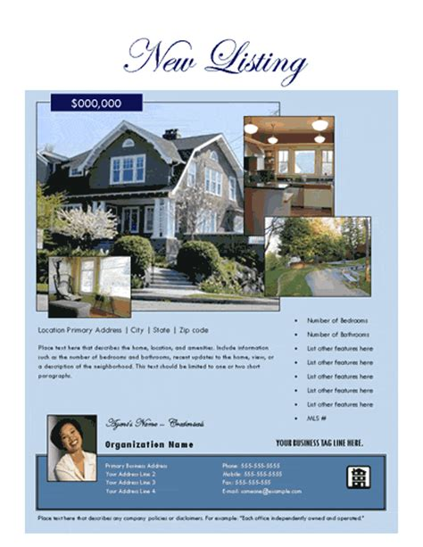 ebay templates for sale real estate flyers free flyer templates