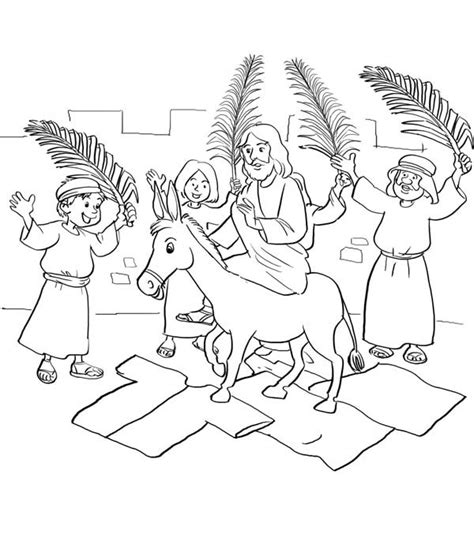 coloring pages jesus enters jerusalem genuine palm sunday coloring page free sheets bible