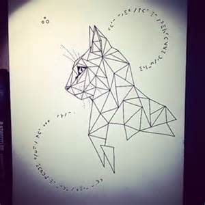 25 best ideas about geometric cat tattoo on pinterest