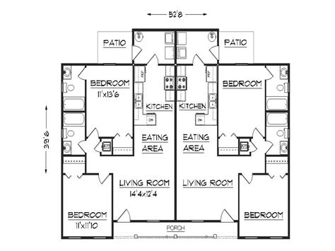 Duplex Home Plan by Duplex Floor Plans Duplex House Plans With Garage Plan