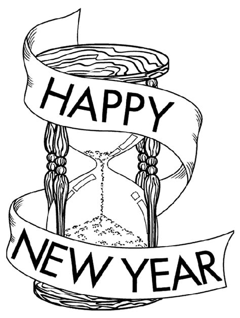 new year drawings coloring pages new year s coloring pages free and printable