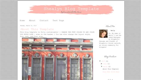 premade blogger template simple pink and grey blog template premade blogger template chic pink design