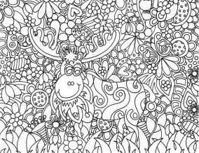 Adult coloring page christmas santa claus s reindeer 12
