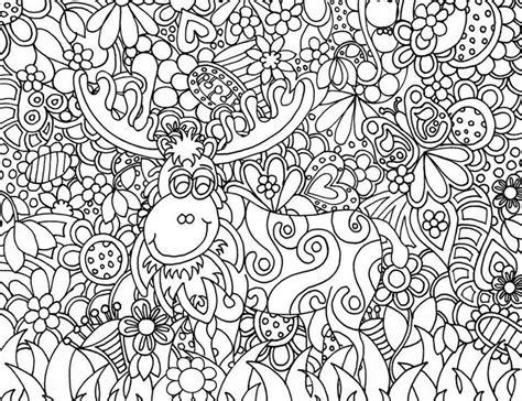 free doodle printable coloring page santa claus s reindeer 12