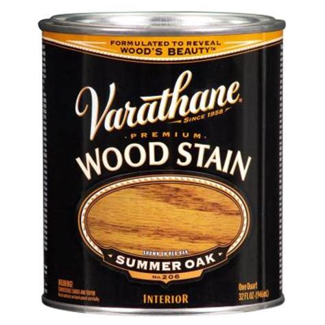 Varathane Wood Finish Interior by Varathane 1 Qt Summer Oak Premium Interior Wood Stain No