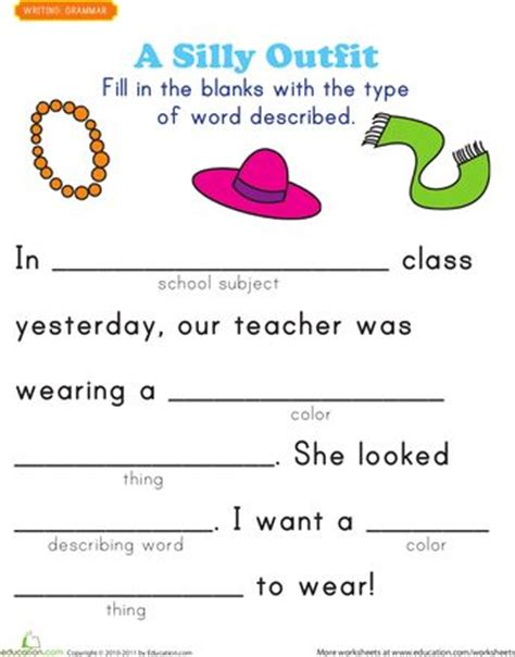 Award Letter Used In A Sentence Worksheets Fill In A Story 2 Summer Home School Simple Sentences Simply