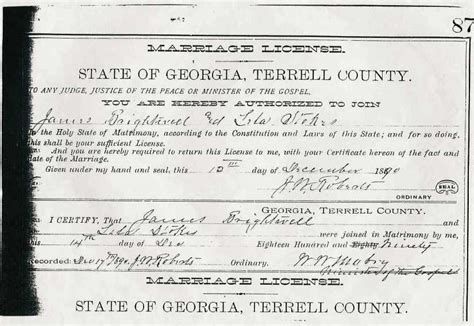 Ga Marriage Records Tattnall To Treutlen County Marriage Records