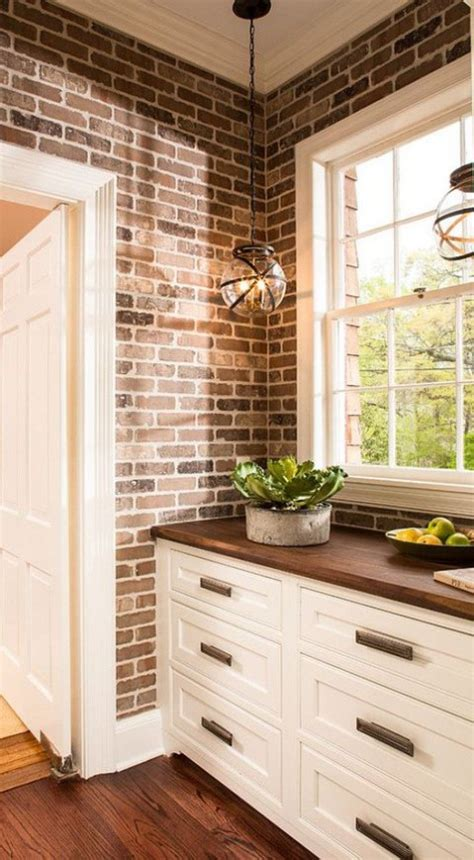 Brick Wall In The Kitchen by 67 Stylish Kitchens With A Brick Wall Comfydwelling
