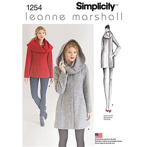 Buy Simplicity Leanne Marshall Women's Coat Sewing Pattern