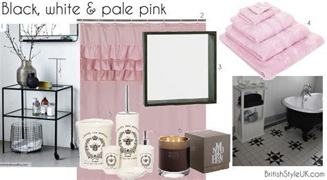 black white pink bathroom black white pale pink