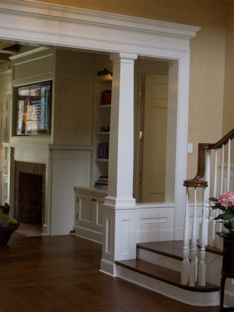 house interior column designs stairs pinned by www modlar support beam detailing woodwork ideas for the home