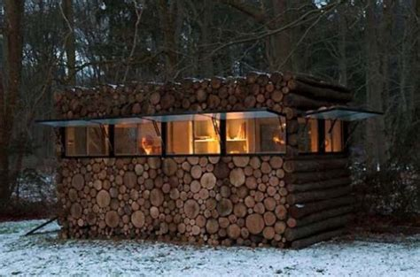 hans libergs secluded  studio log cabin