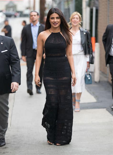 Prianka Maxi priyanka chopra halter dress newest looks stylebistro