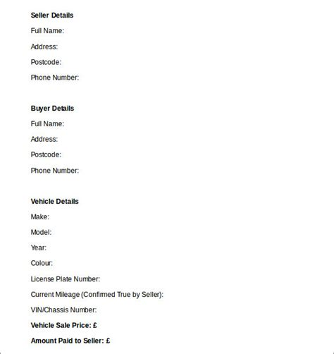 used car sales invoice template uk invoice example