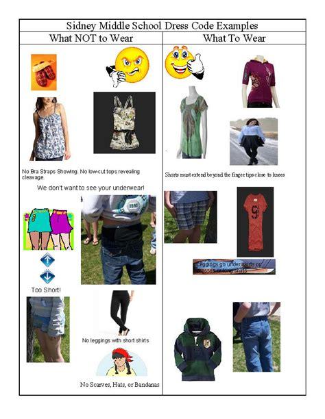 middle school girls dress code middle school dress code