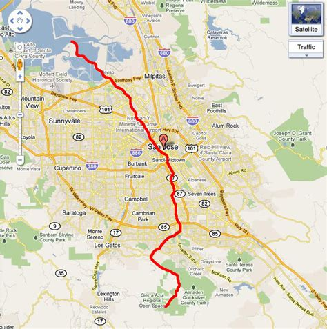 san jose trails map the guadalupe river silicon valley of the s delight