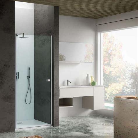 porta doccia 90 cm porta doccia apertura battente 90 cm in cristallo