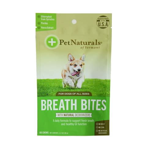 how to freshen dogs breath pet naturals fresh breath bites baxterboo