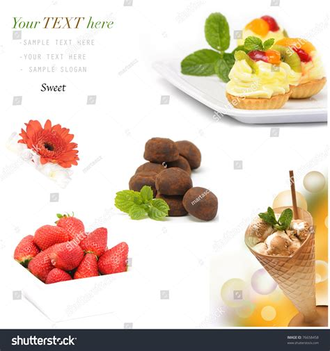 desserts around the world delicious collection of cakes cookies muffins pies cupcakes creams recipes books collection of different delicious desserts and cakes stock