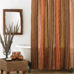 Gold Drapes Panels Beddingstyle Columbia Sierra Copper Shower Curtain