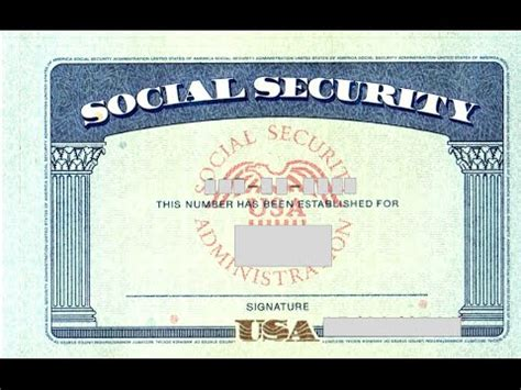 social security template social security card number