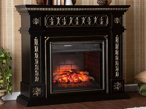 donovan infrared electric fireplace mantel package in