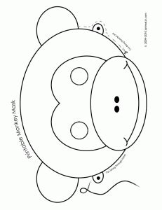 new year animal masks black and white printable animal masks monkey mask woo jr activities