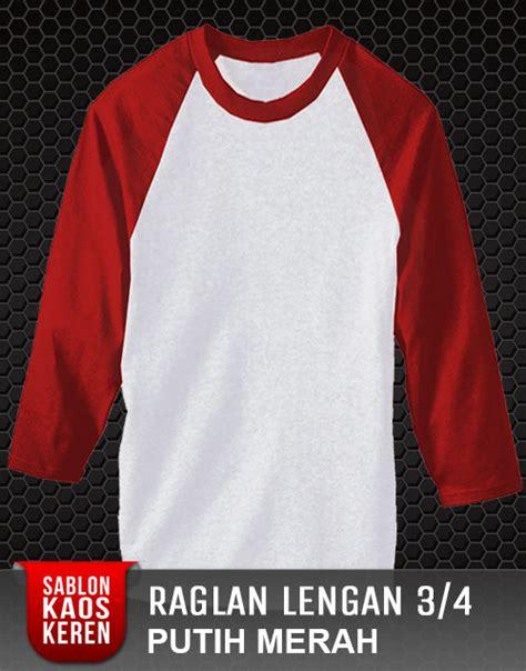 Kaos Hello Lengan Panjang Merah Putih sablon kaos dtg satuan murah dan desain sendiri