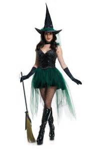 make witch costume halloween womens sequin emerald witch costume