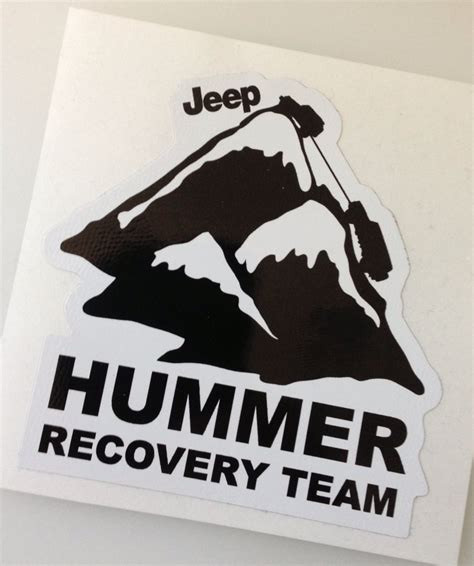 Jeep Decals Jeep Decals Hummer Recovery Team