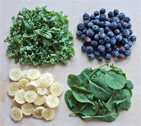 protein 1 cup spinach smoothie 1 ripe banana 1 cup of frozen blueberries 1 cup