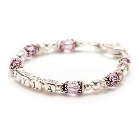 classic baby bracelet personalized silver baby bracelet