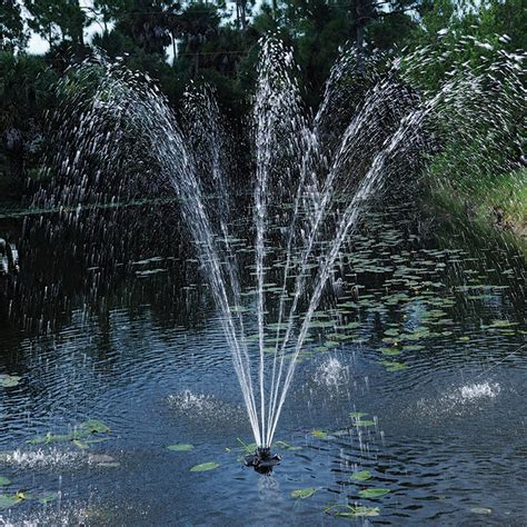pond fountain with lights pond boss 174 1 4 hp floating fountain with lights