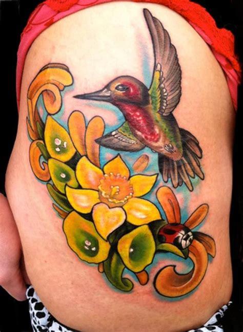 tatuaggio fiori colorato 65 tatuaggi colorati allegri e dai colori vivaci
