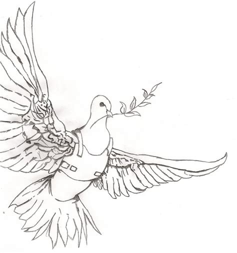 banksy study peace dove with protective vest by jordankp