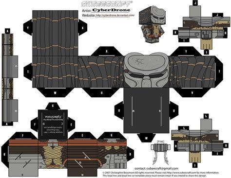 Predator Papercraft - cubee predator masked by cyberdrone on deviantart