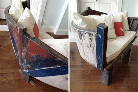 boat couch ideas how to reuse old boats refurbished ideas