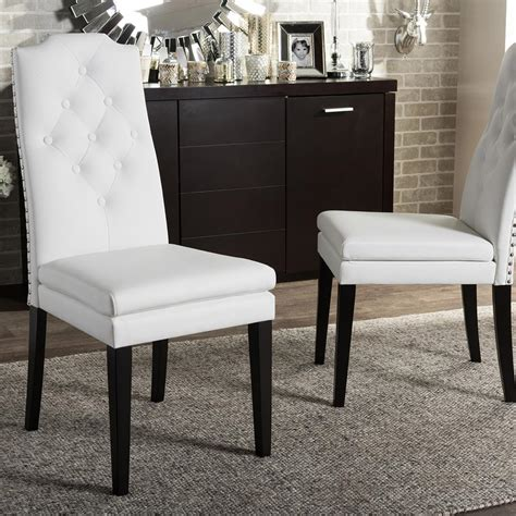 baxton studio lavin beige faux leather upholstered dining chairs set   pc  hd