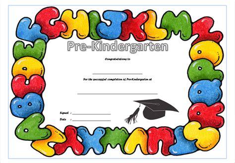Pre K Award Certificate Templates by Pre Kindergarten Diploma Certificate 9 Jpg Best