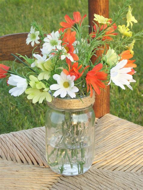 10 Mason Jar Flower Lids Frog Mason Jar Lids Twine Covered